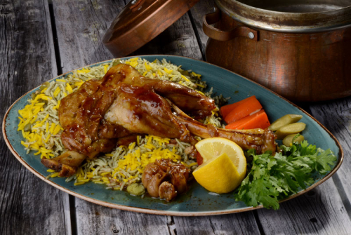 Baghali Polow Ba Mahiche Banoo Iranian Restaurant Dubai Marina